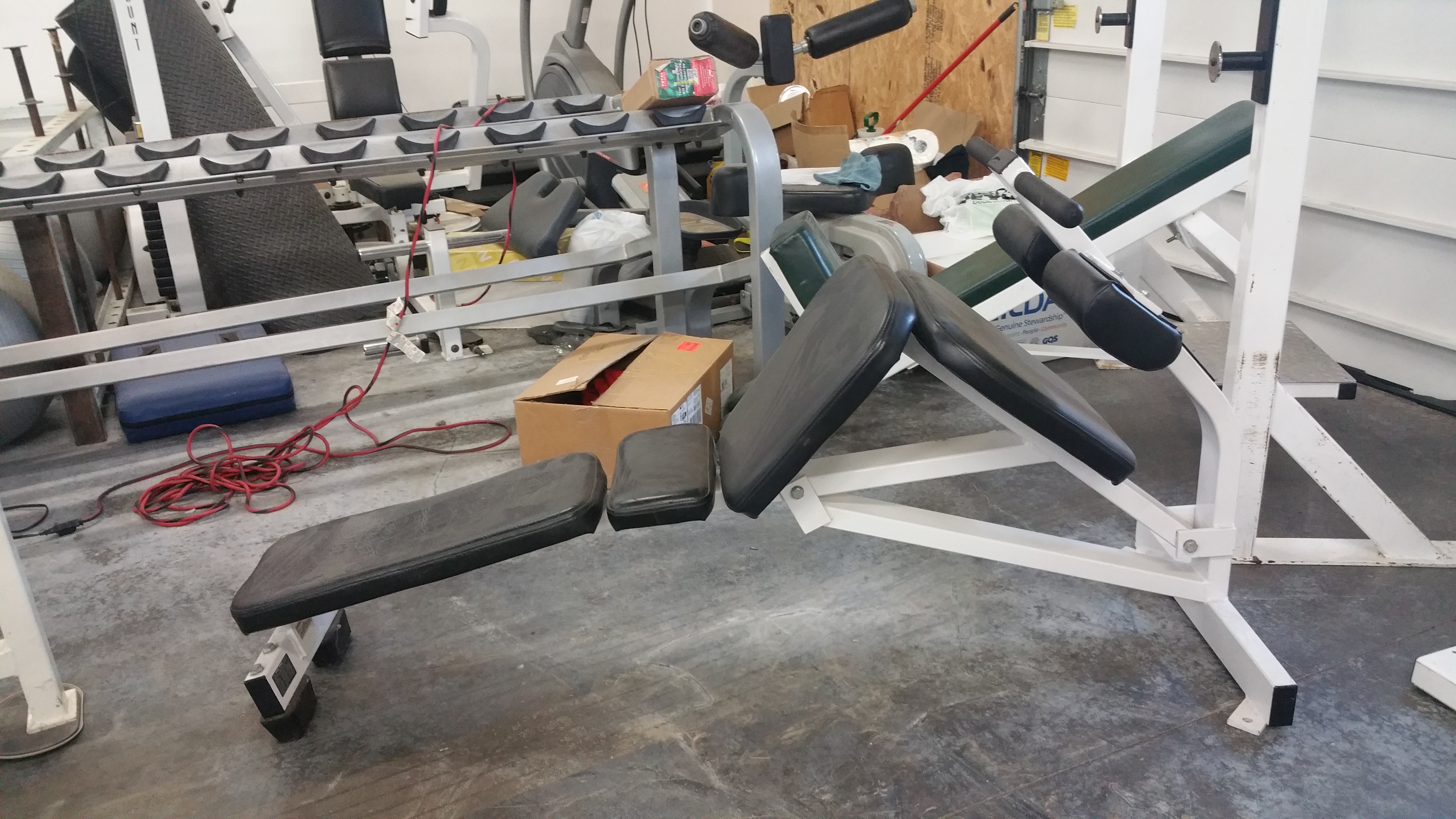 Midwest Used Fitness Equipment Hammer Strength Decline Ab Bench