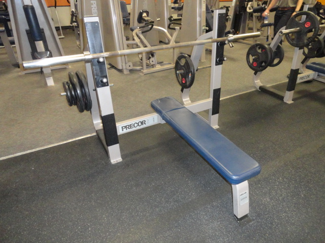 Midwest Used Fitness Equipment Precor Icarian Olympic Bench Press 408